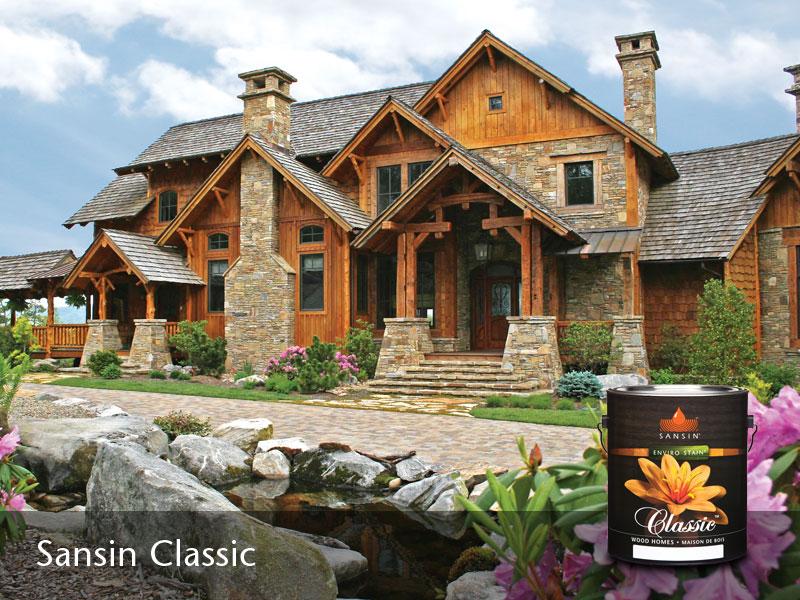 Excellent Log Homes Exterior Finishes Sansin Com Largest Home Design Picture Inspirations Pitcheantrous