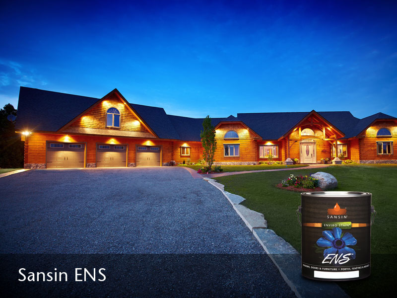Log Homes Exterior Finishes The Sansin Corporation