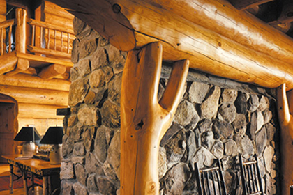 Log Homes Interior Finishes | The Sansin Corporation